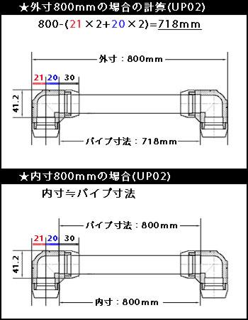 UP02使用時のパイプ寸法